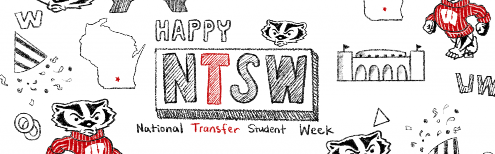 Happy National Transfer Student Week Doodle
